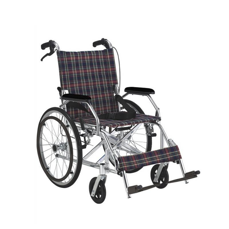 Manual Aluminum Wheelchair  Handle Brake And Drop Back Handle SC-AW11