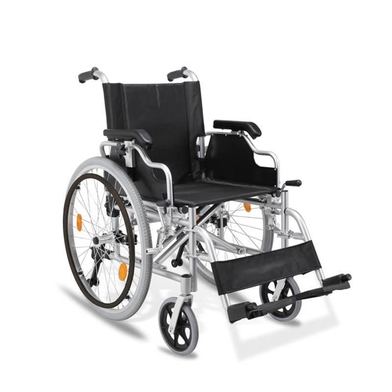 Manual Aluminum Wheelchair  Anti-tilt Wheels Double Cross Bar SC-AW22