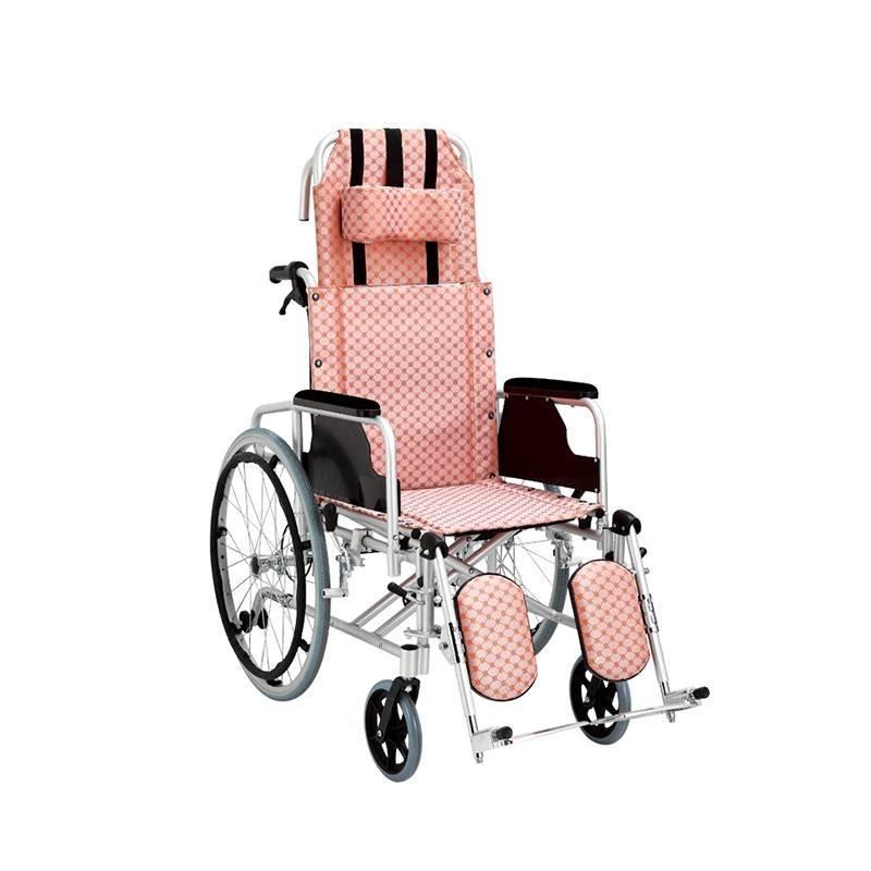 Aluminum Wheelchair Reclining High Back Air Wheels SC-AW27