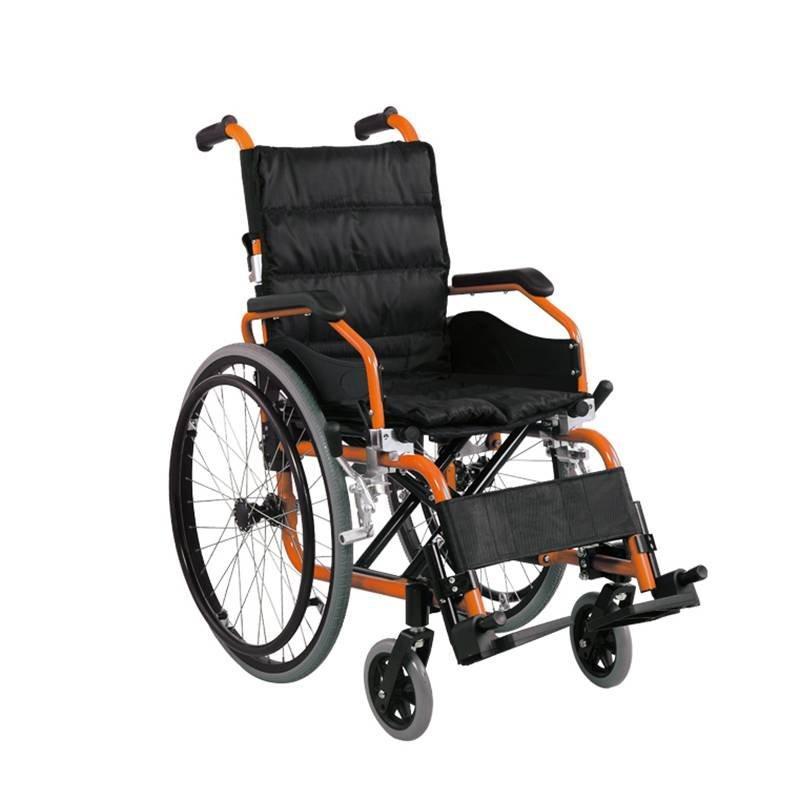 Manual Aluminum Wheelchair Kids Wheelchair Soft Seat Pad SC-AW26-35