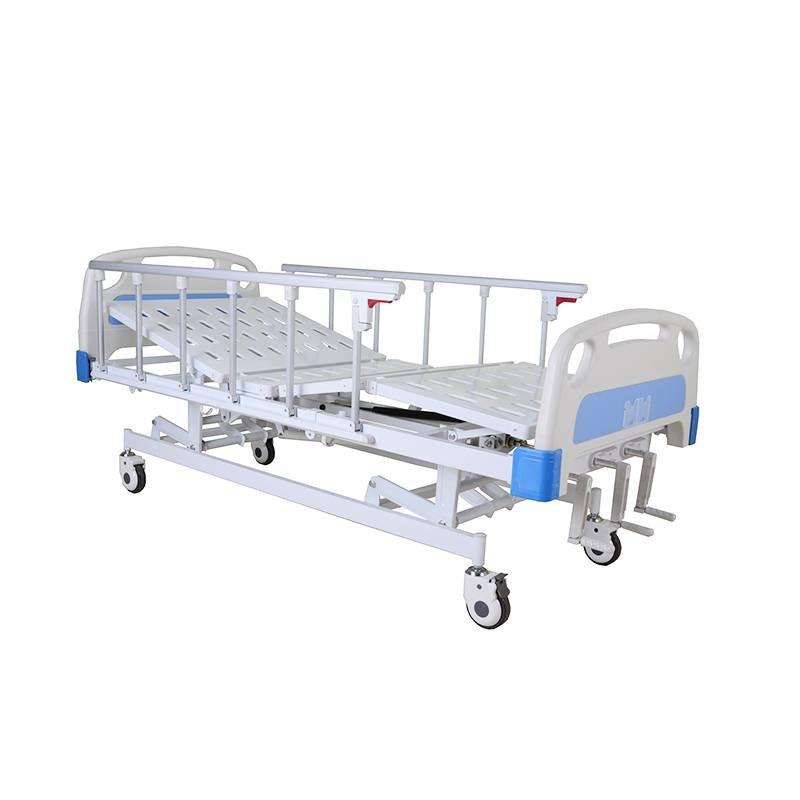 Manual hospital Bed Three Cranks Aluminum Side Rails SC-MB04