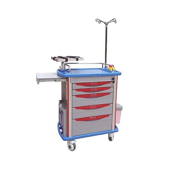 Emergency Trolley Aluminum ABS BODY  IV POLE SC-HF12