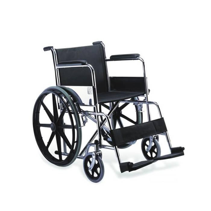 Manual Steel Wheelchair Mag Wheel Economical Wheelchair SC-SW09