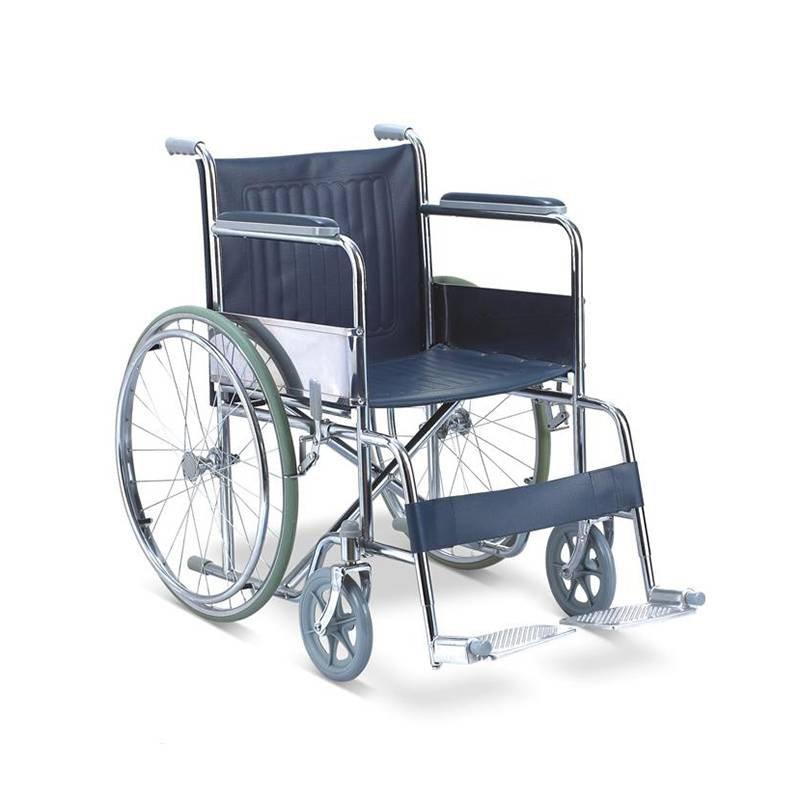 Steel Wheelchair Chromed Wheelchair SC-SW08