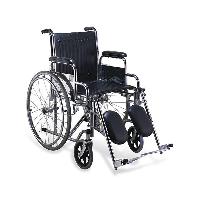 Manual Steel Wheelchair  Elevating Leg Rest Anti-tilt  SC-SW20