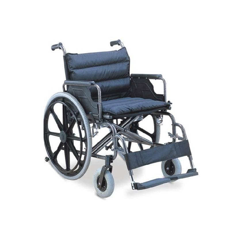 Manual Wheelchair Steel Frame 56cm  Soft Pad Seat SC-SW24-56