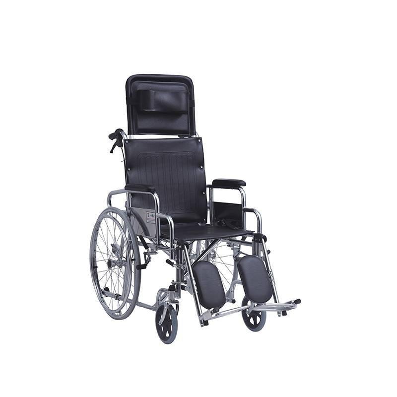 Manual Steel Wheelchair Reclining High Back Unit Brake SC-SW30