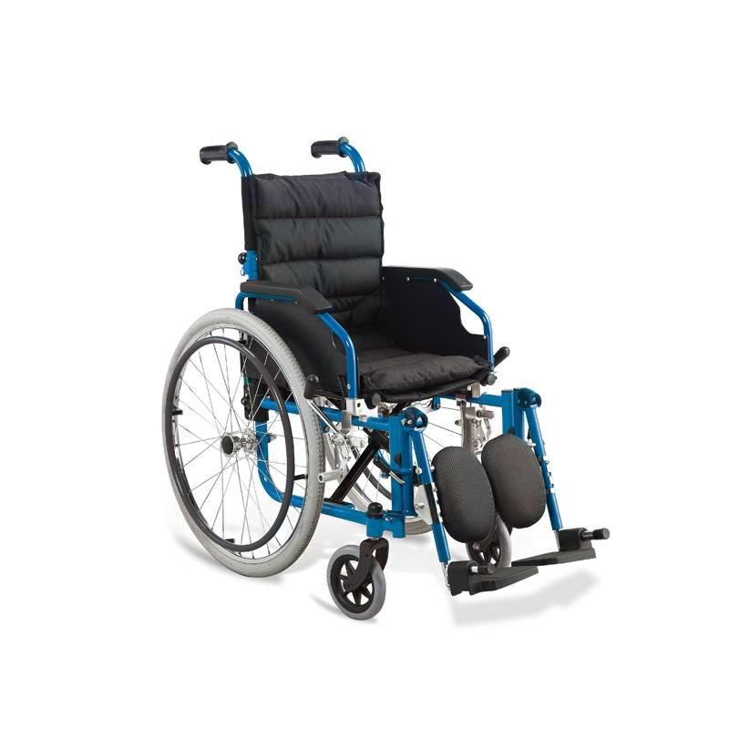 Kids Wheelchair Manual Steel Wheelchair Air Tire SC-SW26-35