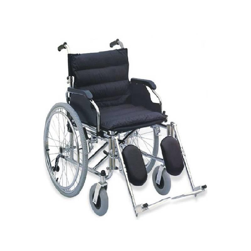 Manual Steel  Wheelchair 56cm Soft Pad Seat Elevating Leg Rest SC-SW25-56