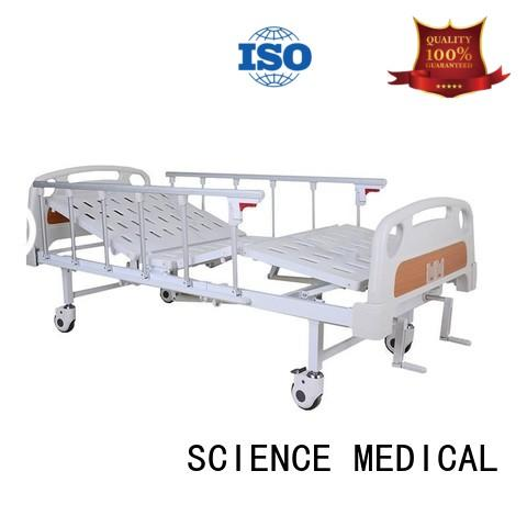 SCIENCE MEDICAL portable hospital manual bed OEM for patients