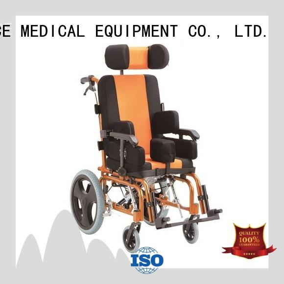 SCIENCE MEDICAL steel pediatric wheelchairs for cerebral palsy supplier for children