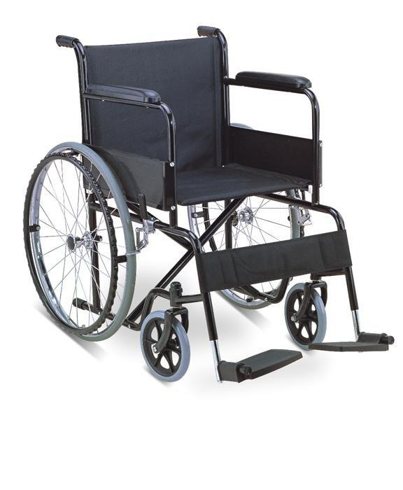 Manual  Wheelchair Powder Coated Black SC-SW07