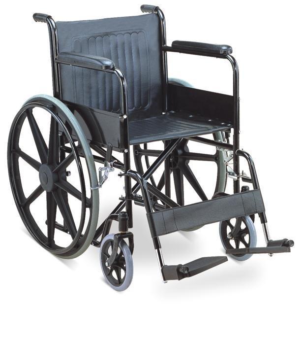 Powder Coated Steel Wheelchair Solid Mag Wheel SC-SW13