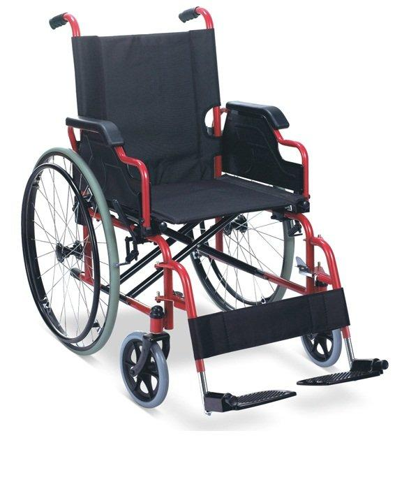 Manual Steel Wheelchair detachable armrest and footrest SC-SW16