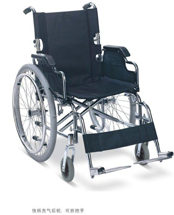 Manual Steel Wheelchair Pneumatic WheelChair SC-SW16(B)