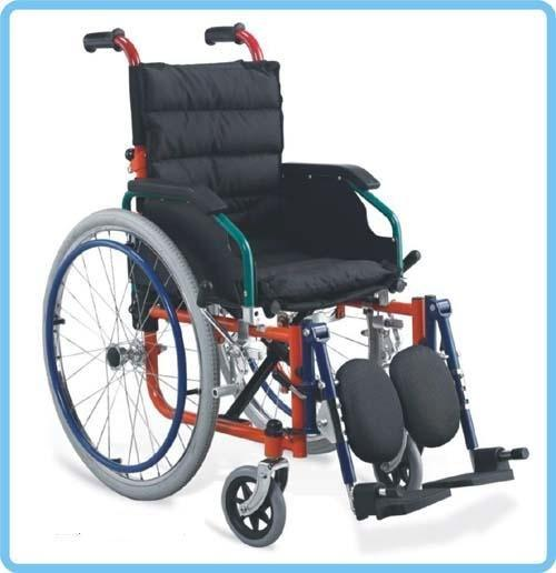 Manual Steel Wheelchair Kids WheelChair 35 cm soft pad seat SC-SW22-35