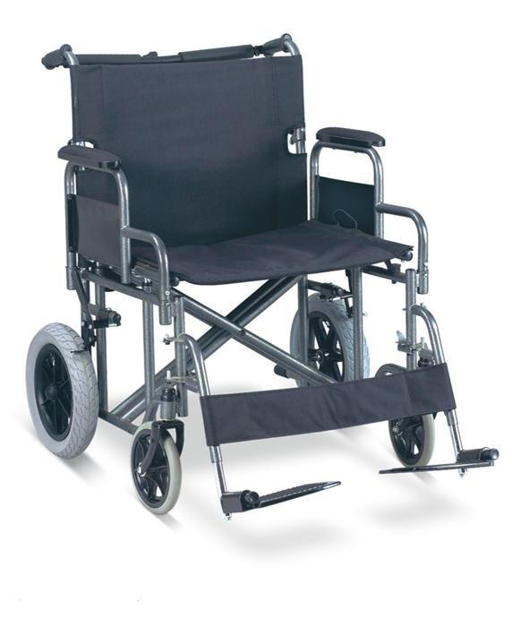 Manual Steel Wheelchair Heavy duty Fat Wheelchair 61cm extra width SC-SW26-61
