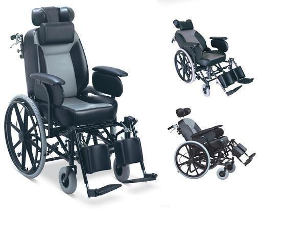 Reclining Highback Wheelchair Heavy Duty Steel Wheelchair SC-SW32