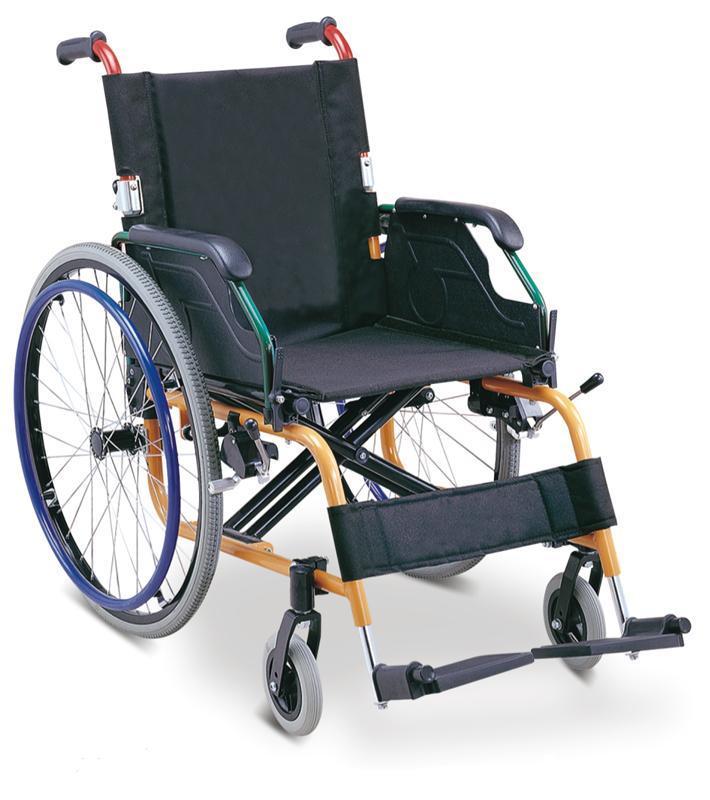 Aluminum Wheelchair Manual Wheelchair Powder Coated  SC-AW14