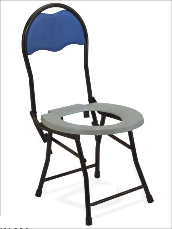 Commode Chair Steel Frame with Back Rest SC-CC01(S3)