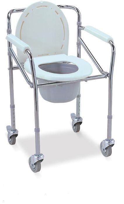 Commode Wheelchair Chromed Steel Frame SC-CW01(S)