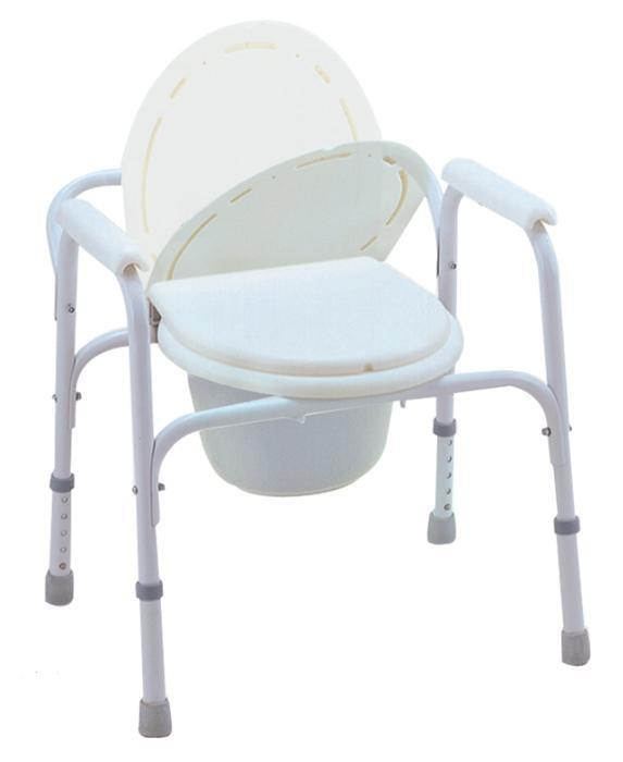 Steel Commode Chair with Lid Heavy Duty SC-CC03(S)
