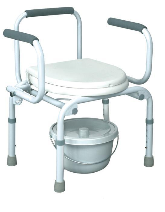 Steel Commode Chair with Lid heavy Duty SC-CC05(S)