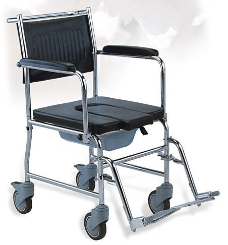 Chromed Steel Commode Wheelchair Detachable SC-CW03(S)