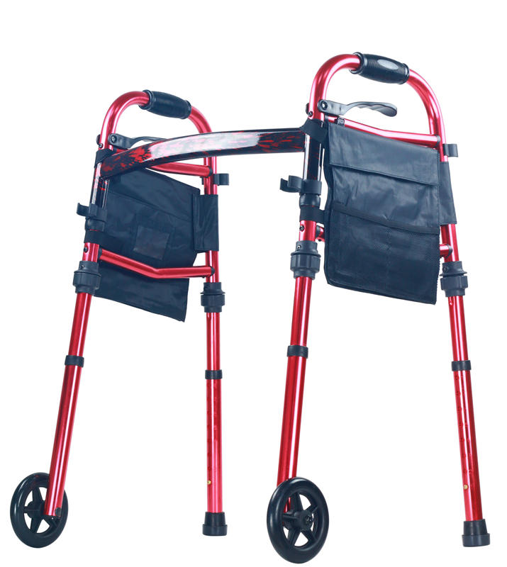 Folding Rollator Aluminum Travel walker