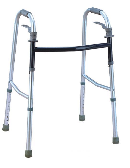 Aluminum folding walker standing frame for old people