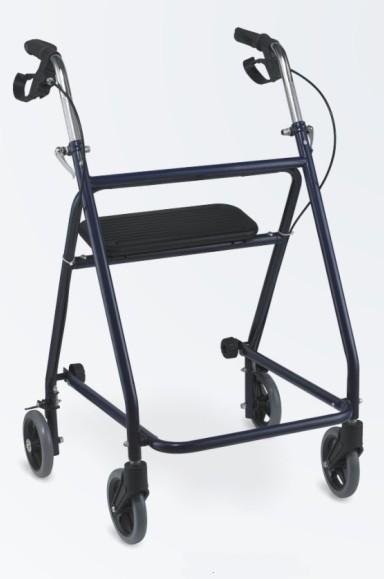 Steel folding walker Rollator with 4 wheels