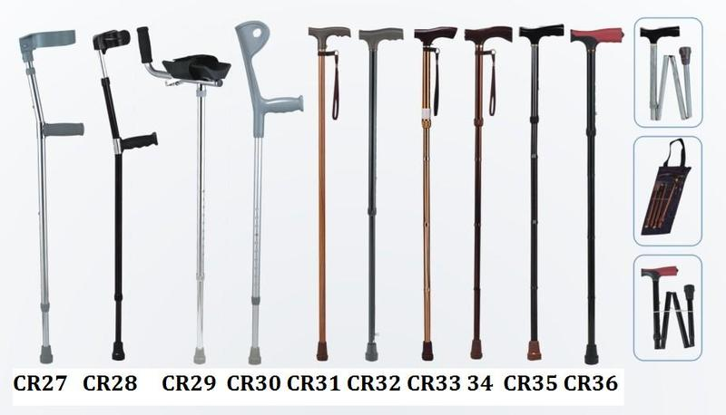 Aluminum walking stick adjustable crutch