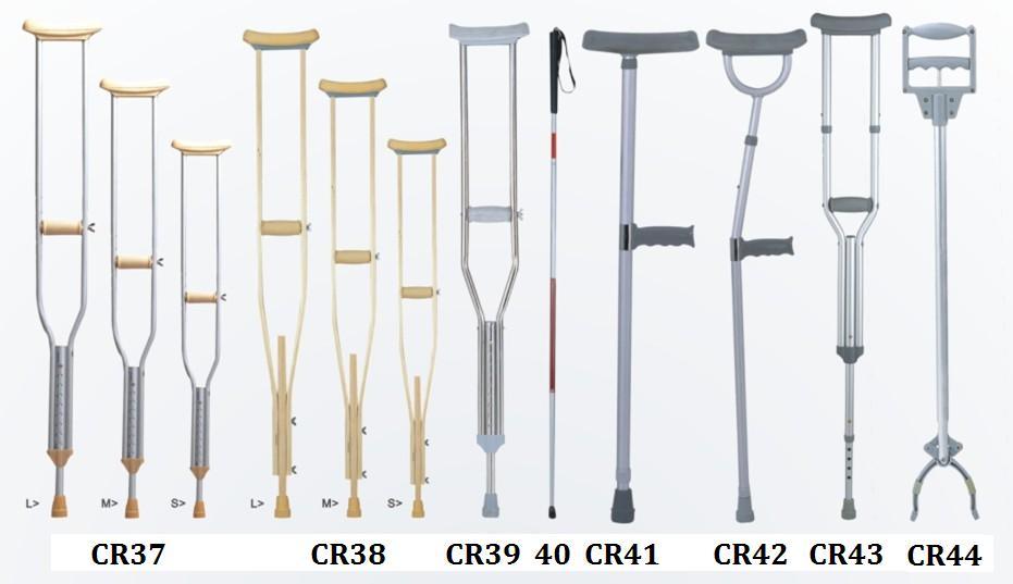 SCIENCE MEDICAL Aluminum  underarm crutch Axillary crutch Walking Aids image2