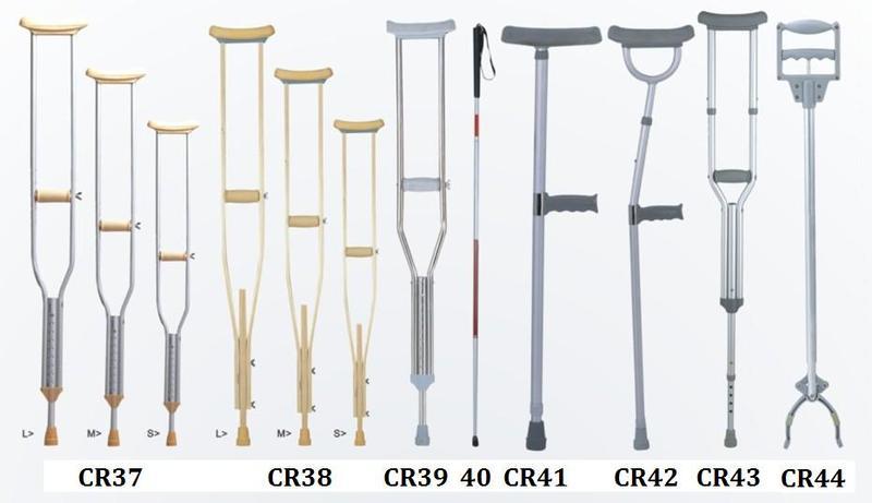 Aluminum  underarm crutch Axillary crutch