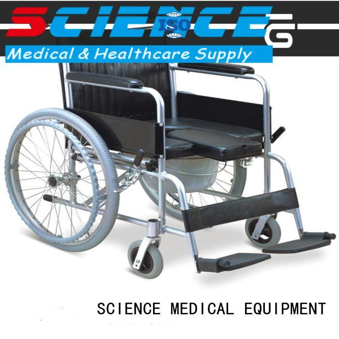 SCIENCE MEDICAL on-sale reclining wheelchair with commode supplier for patient