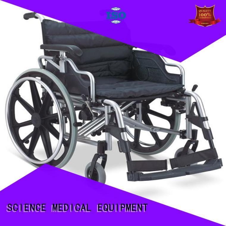 solid mesh lightweight aluminium wheelchair scaw15 free sample for elder