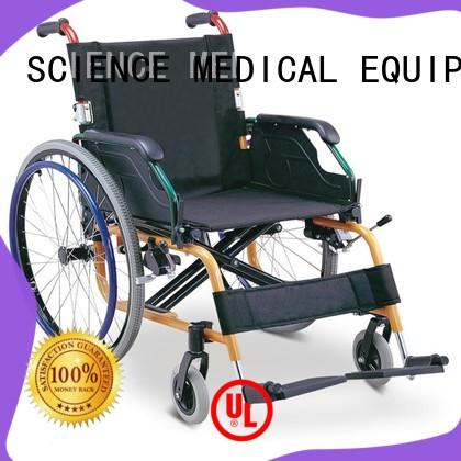 SCIENCE MEDICAL handle light wheelchairs for travel ODM for disabled