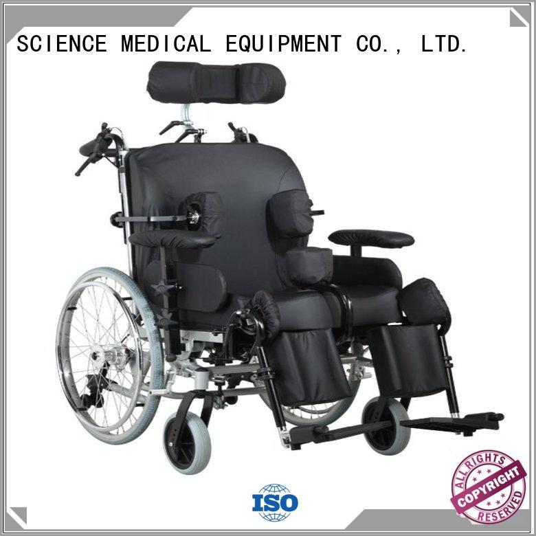 SCIENCE MEDICAL solid mesh cheap manual wheelchairs OEM for patient