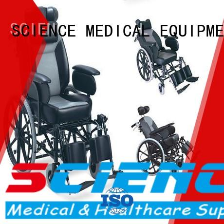 SCIENCE MEDICAL scsw18 heavy duty manual wheelchair free sample for disabled