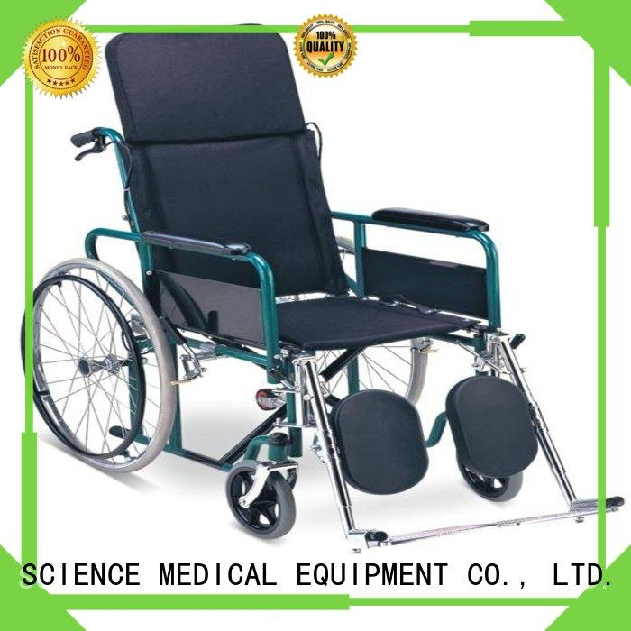 SCIENCE MEDICAL solid mesh manual wheelchair dimensions free sample for elder