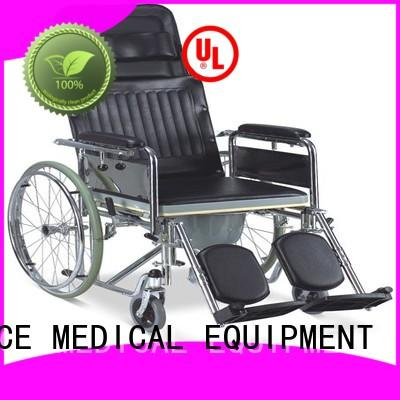 durable commode toilet chair with wheels footrest bulk production for disabled
