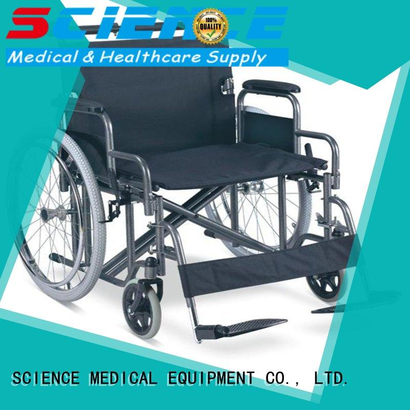 SCIENCE MEDICAL durable outdoor manual wheelchair supplier for patient