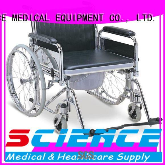 SCIENCE MEDICAL high-quality commode chair with wheels free sample for patient
