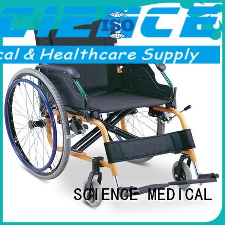 coated extra light wheelchairs foldable for elder SCIENCE MEDICAL