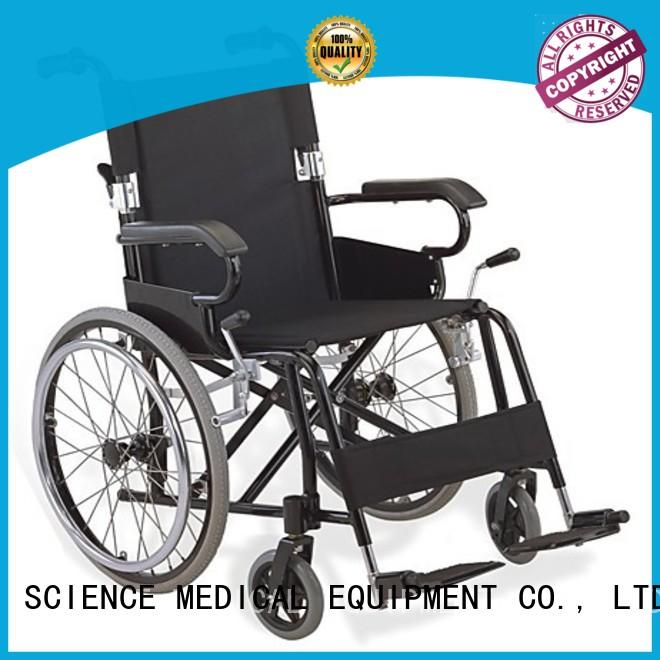 SCIENCE MEDICAL luxurious lightweight aluminium wheelchair customization for elder