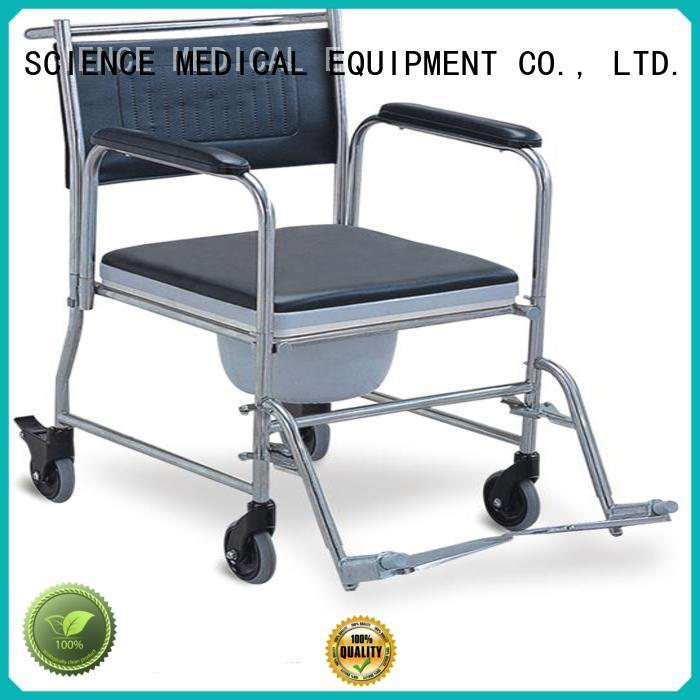 SCIENCE MEDICAL selfuser reclining wheelchair with commode customization for elder