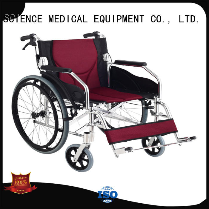 high-quality lightweight fold up wheelchair drop for business for disabled