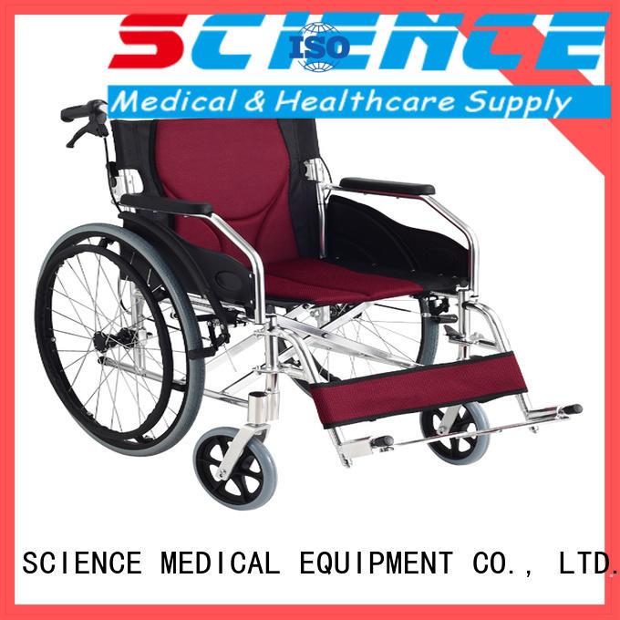 SCIENCE MEDICAL latest best lightweight portable wheelchair for wholesale for disabled