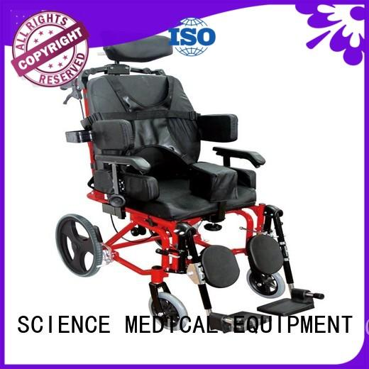 SCIENCE MEDICAL foldable lightweight folding wheelchairs for sale ODM for patient