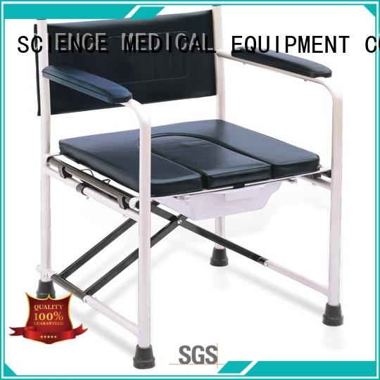 SCIENCE MEDICAL funky shower commode chair customization for disabled